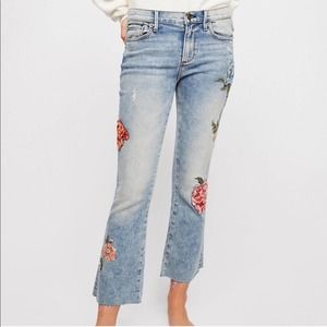 Driftwood Floral Embroidered Jeans